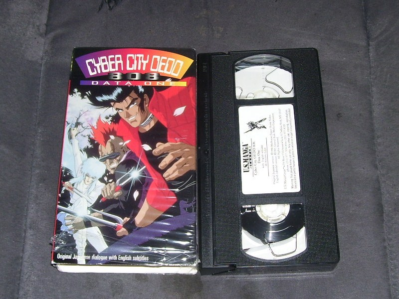 Cyber city oedo 808 data one vhs