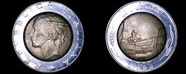 1989 Italian 500 Lire World Coin - Italy - $4.99