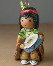 TED DEGRAZIA Signed 1985 BOY with DRUM ORNAMENT FIGURINE GOEBEL Porcelai... - $42.81