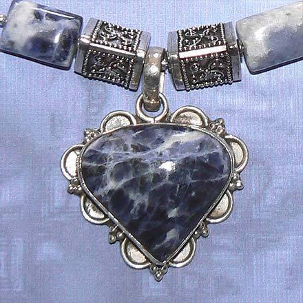 Sterling Silver Sodalite Necklace