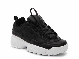 NIB*Fila Disruptor II Premium  Sneaker*Black*Size 6-10 - $135.00
