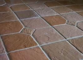 "12+3 FREE CONCRETE SLATE MOLDS MAKE 12x12"" FLOOR WALL PATIO TILES FOR $0.30 EACH image 1"