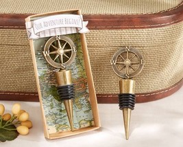 Nautical Compass Wine Bottle Stopper Summer Beach Travel Bridal Wedding ... - $116.80+