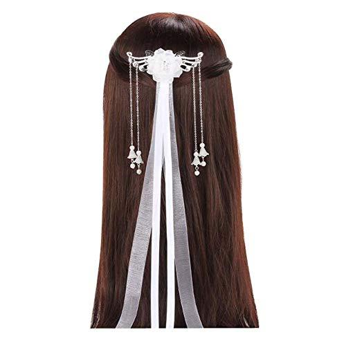 Primary image for Ancient Costume Headdress Hairpin, Chinese Hanfu Streamer Hair Accessories, C01