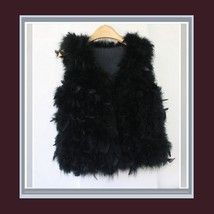 Many Petal Ostrich Hair Feather Fur Vests Vouge Fashion Furs Worn w/ Everything