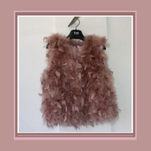 Many Petal Ostrich Hair Feather Fur Vests Vouge Fashion Furs Worn w/ Everything image 2
