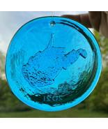 Blenko Glass Suncatcher - West Virginia - Turquoise - $18.95