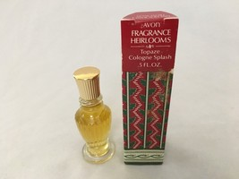 AVON HEIRLOOMS .5 OZ Topaz Splash Perfume Bottle - $7.61