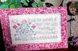 Friendship Garden cross stitch chart From The Heart  - $7.20