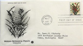 Mar. 3, 1997 First Day of Issue, PC Society Cover, Botanical-Pineapple #6 - $1.98