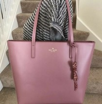 NWT Kate Spade Seton Drive Karla Tote Smooth Leather Dusty  Peony Pink Glitter - $150.00