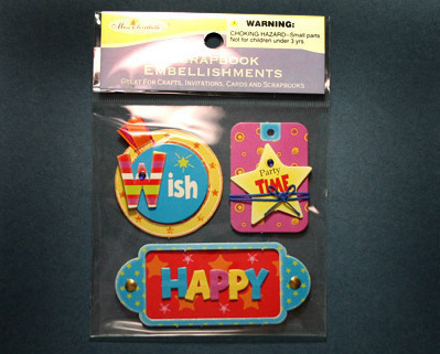 Party Time Scrapbook Embellishments