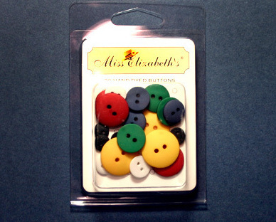 Colored Buttons Scrapbook Embellishments