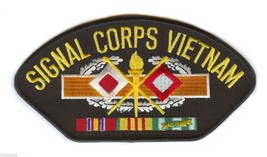 """ARMY SIGNAL CORPS VIETNAM VETERAN EMBROIDERED 6"""" SERVICE RIBBON MILITARY... - $17.14"""