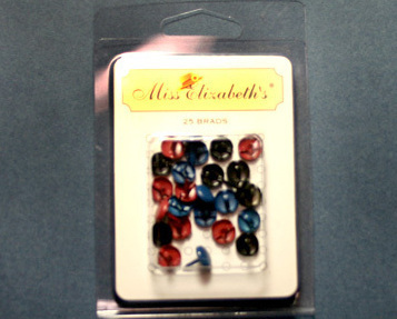 Colored Brads Scrapbook Embellishments