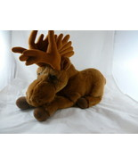 "Dakin Lou Rankin Friends Plush Miles the Moose 15"" long laying down Exce... - $18.80"