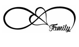 Family Love Heart Infinity Forever Symbol Vinyl Decal Car Window Bumper Sticker - $2.27+