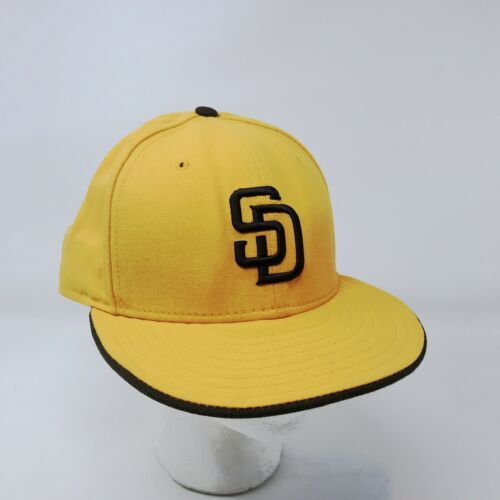 New Era 59Fifty San Diego Padres 7 5/8 Fitted USA Wool Hat Gold & Brown