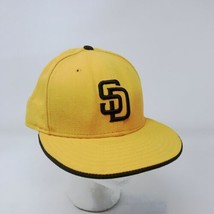 New Era 59Fifty San Diego Padres 7 5/8 Fitted USA Wool Hat Gold & Brown - $24.75