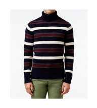 Tommy Hilfiger Men's Striped Turtleneck Sweater Navy M $110 - $59.39