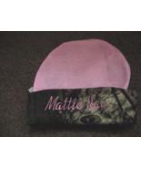 Personalized Pink with Camo Trim Girls Mossy Oak Hat Beanie Infant Newbo... - $19.99