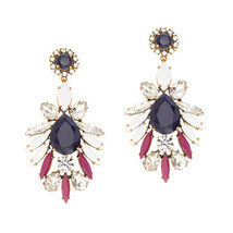 J.Crew Womens PERSIAN LEAVES EARRINGS~*Persian Red*~ - $49.00
