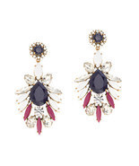 J.Crew Womens PERSIAN LEAVES EARRINGS~*Persian Red*~ - £37.85 GBP