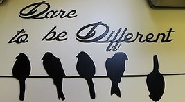 Dare to be different Birds on a wire  Metal Wall Decor - $37.61