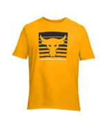 Under Armour UA Yellow Project Rock Mens Training T-shirt Multi Sizes Me... - $26.23