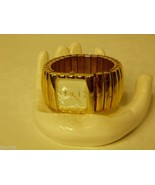 LeBaron Quartz Ladies Gold-tone Wide Band Watch Recently Serviced - $24.98