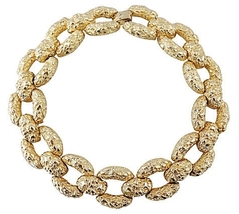 Goldtone Nugget Runway Couture Collar Necklace 1970s - €118,46 EUR