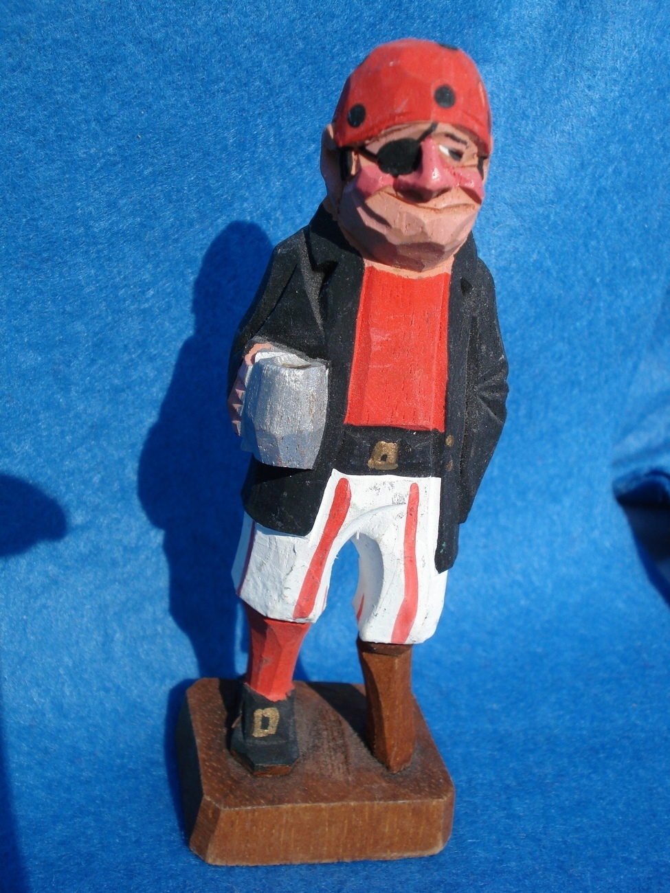 hand carved tiny wooden pirate-possible Anri