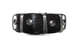 Men Unisex Leather Bracelet Bangle Cuff Black Surfer Wrap Adjustable Ind... - $10.75