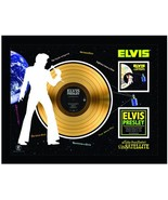 "Elvis Presley - Aloha Hawaii Via Satellite - Framed 20' x 26"" 24Kt. Gold... - $189.99"