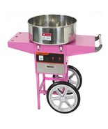 Electric Commercial Cotton Candy Machine Cart Kit 1000w Floss Maker Stor... - $272.51