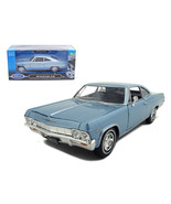 1965 Chevrolet Impala SS 396 Light Blue 1/24 Diecast Model Car by Welly ... - $29.21