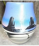 Navajo Rainbow Pottery Pot Cedar Mesa Utah Pottery - $22.00