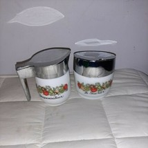 Vintage Spice of Life Corning Ware Gemco Sugar Bowl and Creamer Pitcher USA - $19.99