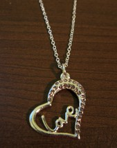 Sizzling Pink Sapphire Love Heart Necklace & Pendant NEW! #D593 - $10.99