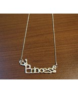 Beautiful Silver Rhinestone Princess Necklace &... - $10.99