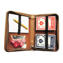 Royce Leather Double Decker Playing Card Case, Premium Bonded Leather, B... - $27.35