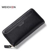 WEICHEN Zipper Clutch Wallets for Women Coin Purses Card Holder Phone Po... - $19.65