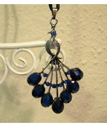 Lovely Blue Sapphire Peacock Necklace New! #D520 - $9.99