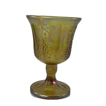 Vintage Mid-century Carnival glass from Indiana Glass Harvest pattern ma... - $9.89