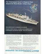 1963 Moore McCormack Lines Cruises to South America print ad - $10.00