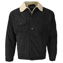 Men's Premium Classic Button Up Fur Lined Corduroy Sherpa Trucker Jacket image 2