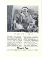 1933 French Line Cruise Ship Children's Playroom print ad - $10.00