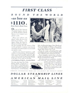 1937 Dollar Steamship & American Mail Line print ad - $10.00