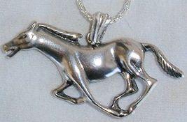 Horse silver pendant thumb200