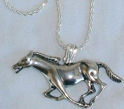 Horse silver pendant 1 thumb200